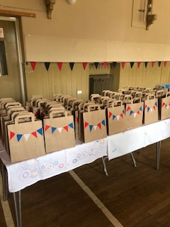 VE day HUGS meals ready for delivery